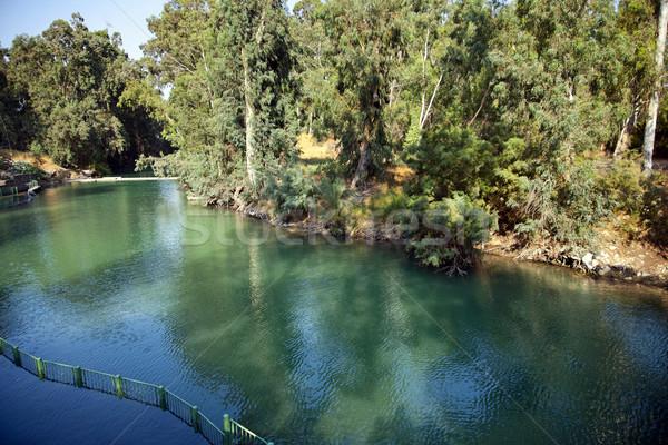 Jordania rzeki widoku Izrael napomknąć Zdjęcia stock © eldadcarin