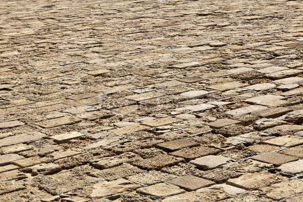 Piedra piso diagonal antigua ladrillos Foto stock © eldadcarin
