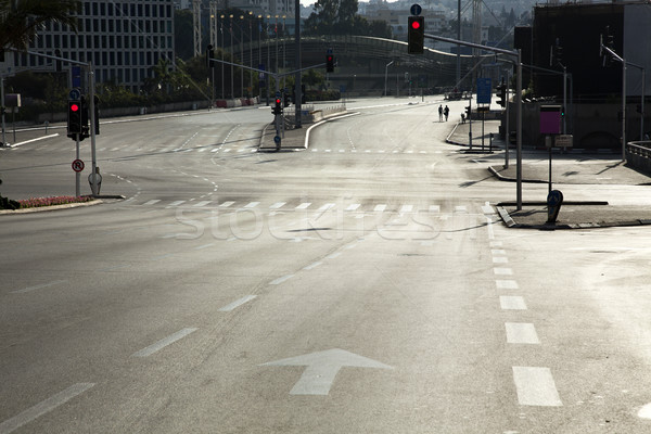 Early Morning Vacant Intersection Stock photo © eldadcarin