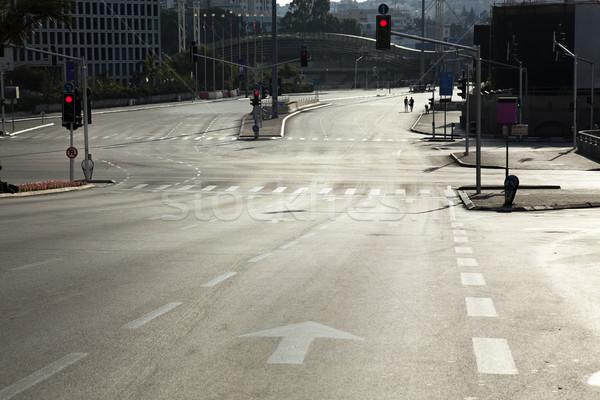 Stockfoto: Vacant · kruispunt · een · Israël · afbeelding