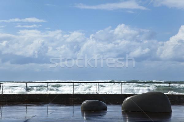 Drenched Boardwalk Stock photo © eldadcarin