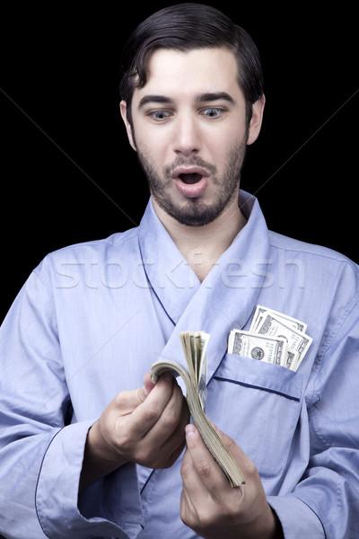 étonné riche bum adulte homme Photo stock © eldadcarin