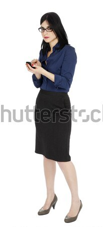 Stock photo: Business Woman Using Cellular Phone