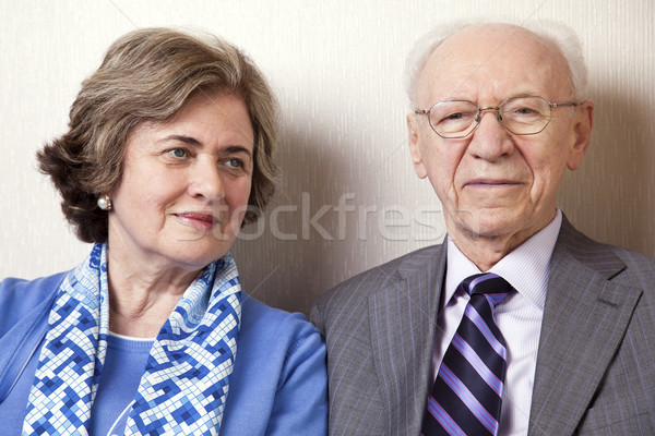 Elderly Couple Close Up Stock photo © eldadcarin