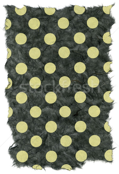 Isolated Rice Paper Texture - Green Polka Dots XXXXL Stock photo © eldadcarin