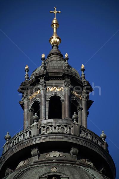 Tower of St. Stephen Basilica, Budapest, Hungary Stock photo © eldadcarin