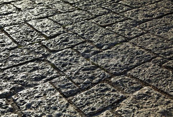 Jerusalén azulejos carretera rocas edad ciudad Foto stock © eldadcarin
