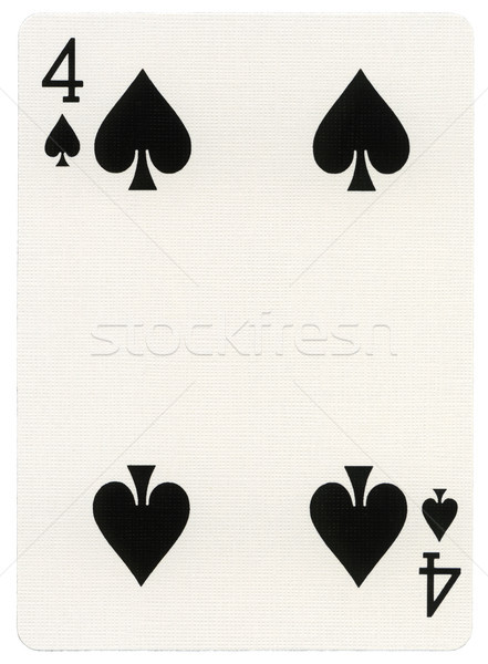 Playing Card - Four of Spades Stock photo © eldadcarin