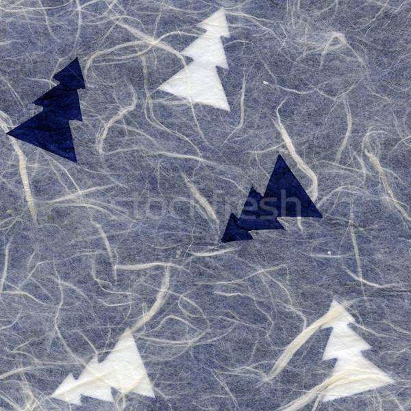 Rice Paper Texture - Christmas White & Blue XXXXL Stock photo © eldadcarin