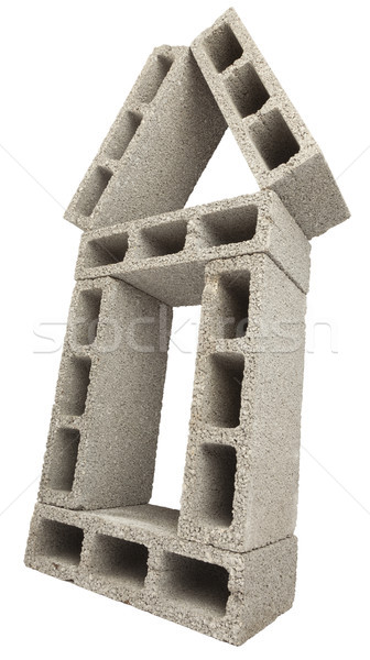 Isolated Construction Blocks - Home Stock photo © eldadcarin