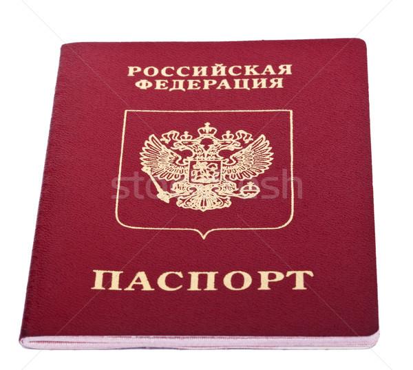 Aislado ruso pasaporte blanco papel impresión Foto stock © eldadcarin
