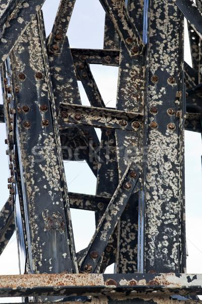 Rusty Vintage Metal Beams Stock photo © eldadcarin