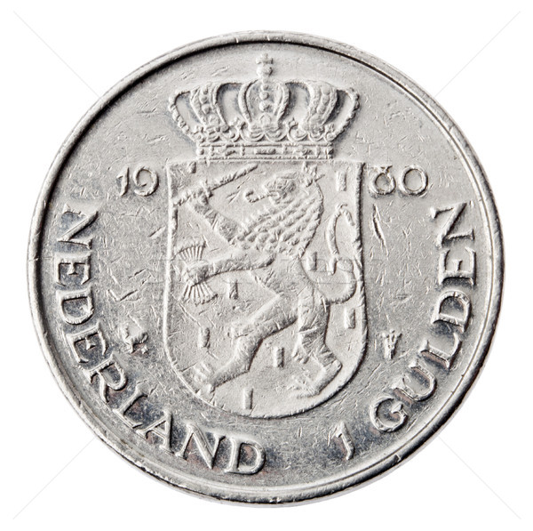 Isolated 1 Gulden - Tails Frontal Stock photo © eldadcarin