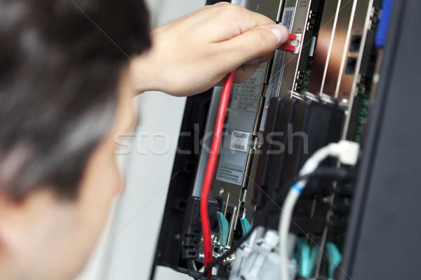 Telephone Switchboard - Plugging In Stock photo © eldadcarin