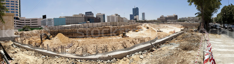 Large Tower Complex Construction Site Panorama Stock photo © eldadcarin