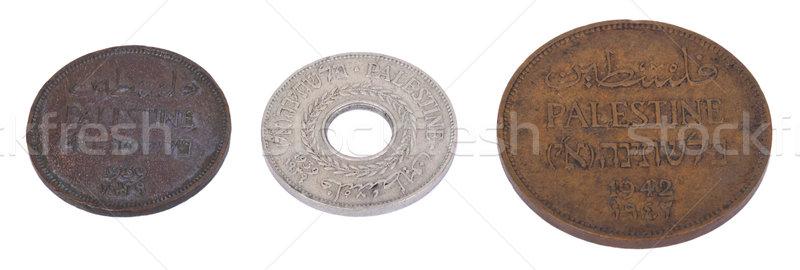 Isolado moedas três vintage 1930 direito Foto stock © eldadcarin