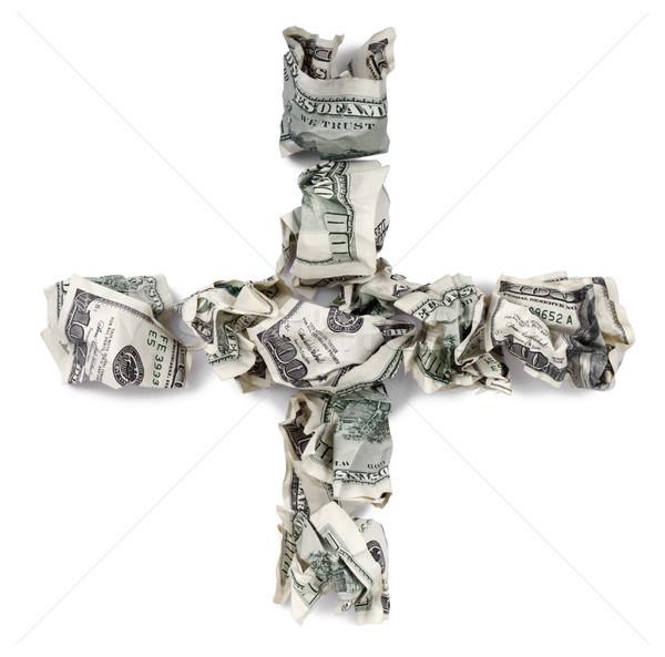 Plus - Crimped 100$ Bills Stock photo © eldadcarin