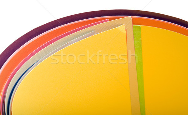 Isolated Rolled up Bristol Papers Stock photo © eldadcarin