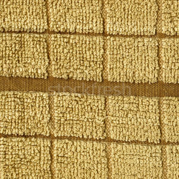 Ręcznik tkaniny tekstury beżowy naszywka wysoki Zdjęcia stock © eldadcarin