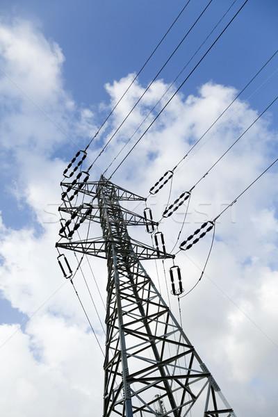 électricité coup bleu blanche Photo stock © eldadcarin