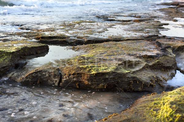 Rocky Beach at Dusk Stock photo © eldadcarin