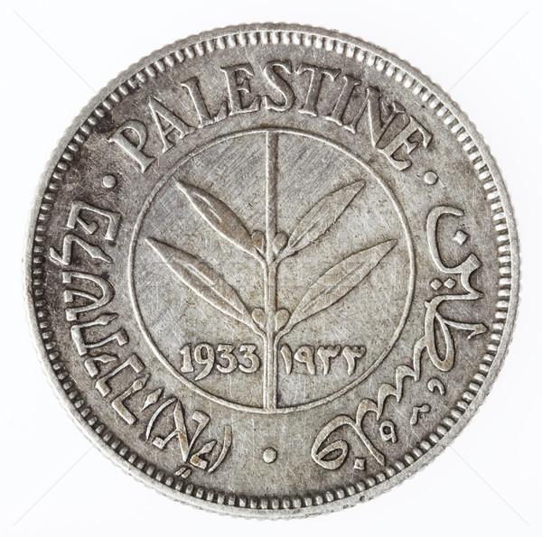 Vintage Palestine 50 Mils - Tails Stock photo © eldadcarin