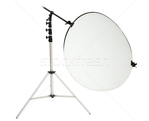 Isolated Round Studio Photography Reflector and Stand Stock photo © eldadcarin