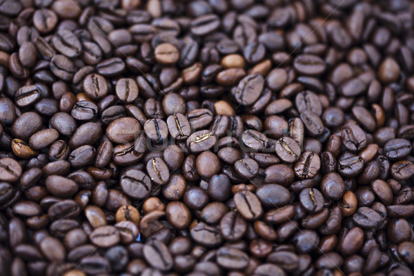 Coffee Beans Background - Bokeh Stock photo © eldadcarin