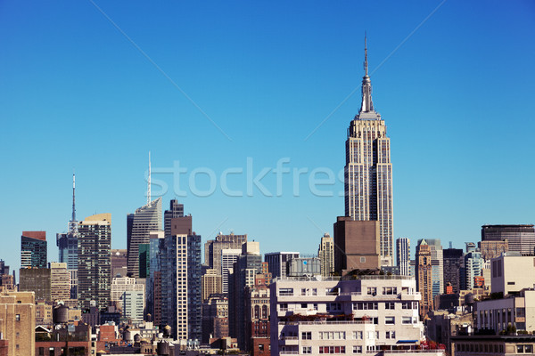 Empire State Building Midtown Manhattan Skyline New-York Stock photo © eldadcarin