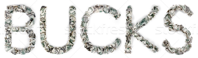 Bucks - Crimped 100$ Bills Stock photo © eldadcarin