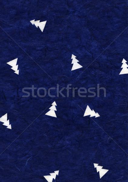 Rice Paper Texture - Christmas Blue Stock photo © eldadcarin