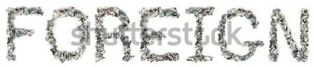 иностранный 100 слово из изолированный Сток-фото © eldadcarin