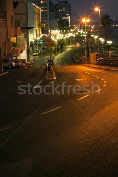 Tel-Aviv Boardwalk & Beach - Evening Stock photo © eldadcarin