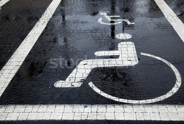 Handicapped Parking Space at Winter Stock photo © eldadcarin