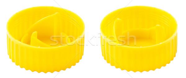 Isolated Yellow Plastic Bottle Cap Stock photo © eldadcarin