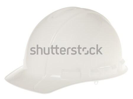 Izolált védősisak oldal fehér oldalnézet biztonság Stock fotó © eldadcarin