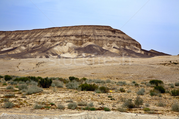 Deserto montanha Israel céu fundo Foto stock © eldadcarin