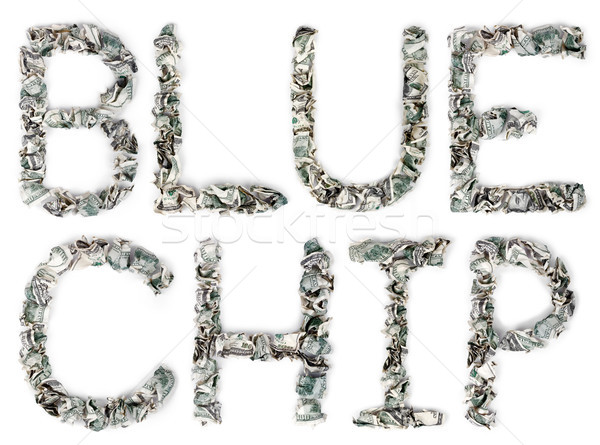 Blue Chip - Crimped 100$ Bills Stock photo © eldadcarin