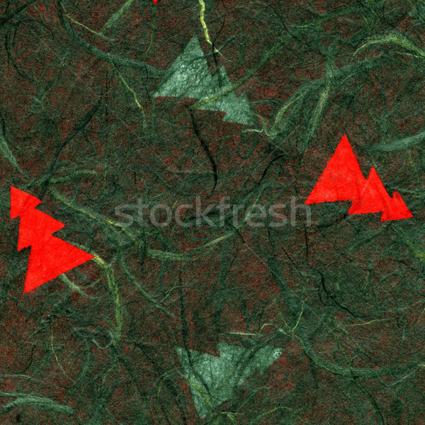 Rice Paper Texture - Christmas Green Stock photo © eldadcarin