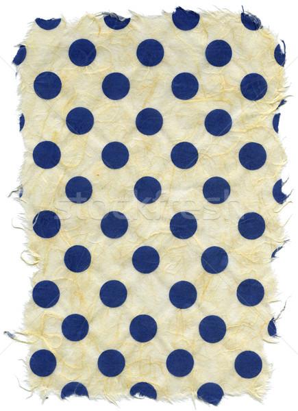 Yalıtılmış pirinç kağıt dokusu mavi lekeli doku Stok fotoğraf © eldadcarin