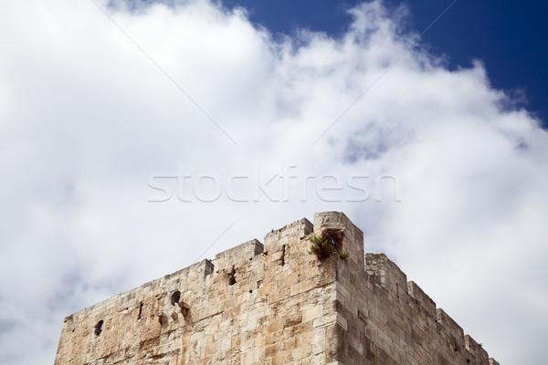 Turret & Cloudy Sky Stock photo © eldadcarin