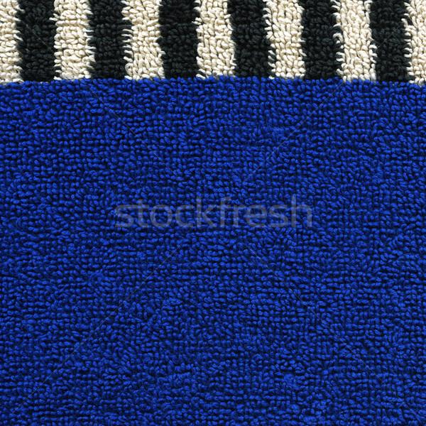 Katoen weefsel textuur Blauw zwarte witte Stockfoto © eldadcarin