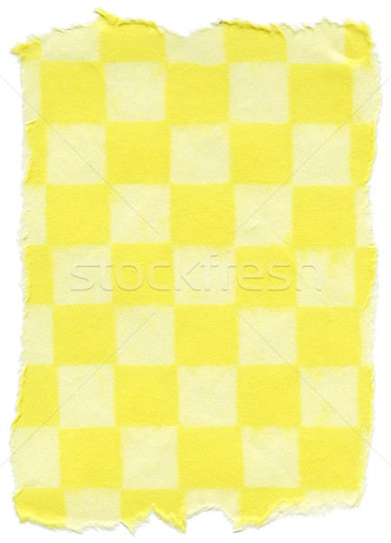 Isolated Rice Paper Texture - Checkered Yellow XXXXL Stock photo © eldadcarin