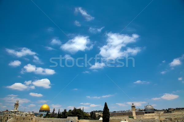Kubbe kaya görmek tapınak eski şehir Stok fotoğraf © eldadcarin