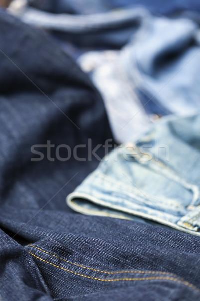 джинсов различный брюки аннотация фон синий Сток-фото © eldadcarin