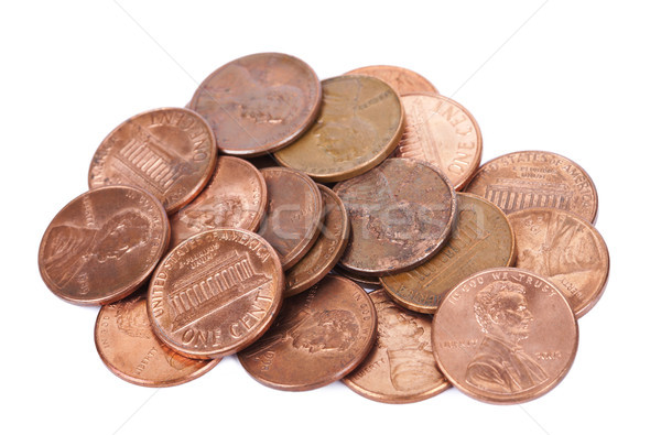 Isolated Pile of Pennies Stock photo © eldadcarin