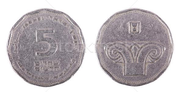 изолированный оба два израильский монеты колонки Сток-фото © eldadcarin