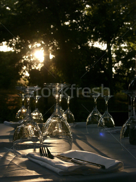 Stock photo: Backlit Laid Table