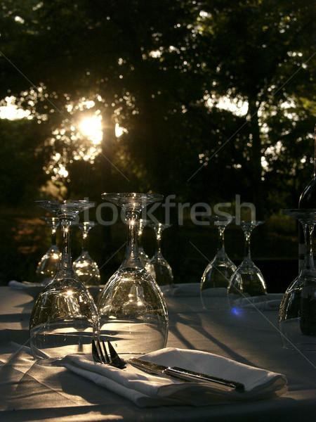 Backlit Laid Table Stock photo © eldadcarin