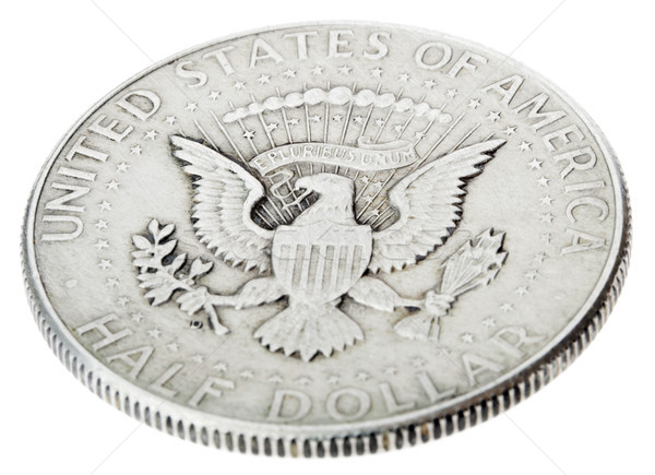 Silver Kennedy Half Dollar - Tails High Angle Stock photo © eldadcarin